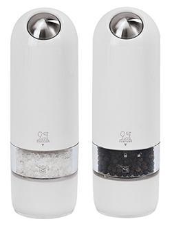 Peugeot Alaska Electric Salt Mill/Duo, Polycarbonate, White,