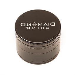 Diamond Grind 4 Piece Aluminum Herb Grinder Black Medium 56m