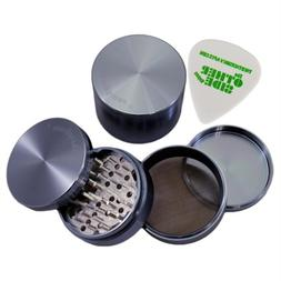"3.0"" - Blue 4 Piece SharpStone Aluminum Herb Grinder + Custo"