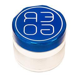 ERGO 4 Piece Aluminum Herb Grinder 50mm  NAVY BLUE