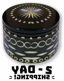 Aztec Pattern LARGE Tobacco Grinder Aluminum Herb/Spice Mini