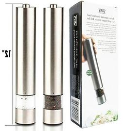 Battery Operated Automatic Salt and Pepper Grinders - Electr