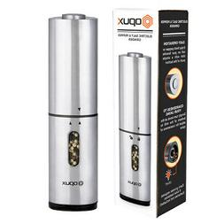 Electric Salt and Pepper Grinder Mill Automatic LED Light Ad