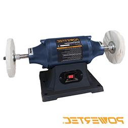 POWERTEC BF600 Heavy Duty Bench Buffer 6-Inch