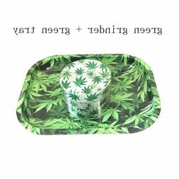 big green herb grinder weed metal with green tray Preferenti