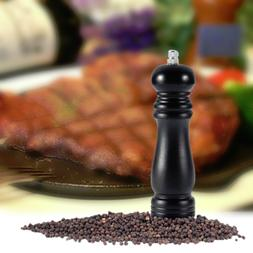 Black Wooden Wood Pepper Salt Mill Shaker Pepper <font><b>Gr
