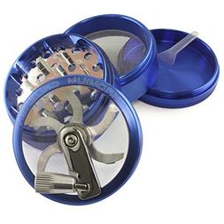 Chromium Crusher Blue 4 Piece Tobacco Spice Herb Grinder - P