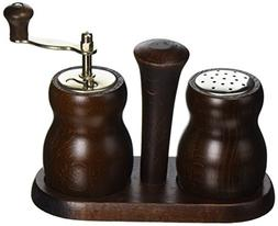 Bisetti BT-301T Cuneo Wood Pepper Mill and Salt Shaker Set,