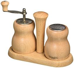 Bisetti BT-301N Cuneo Wood Pepper Mill and Salt Shaker Set,