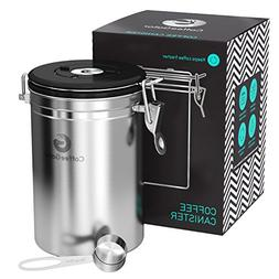 Large Coffee Canister - Keeps Coffee Fresher for Longer - Fr