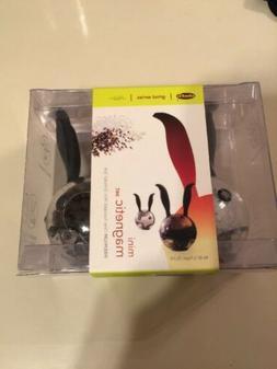 Chef'n Mini Magnetic Salt & Pepper Grinder Set Black Rabbit