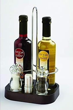 bisetti Art. Code-42816 Cruet Set for Two Round Bottles , To