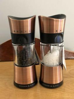 COLE & MASON DERWENT BRUSHED COPPER SALT & PEPPER GRINDER -