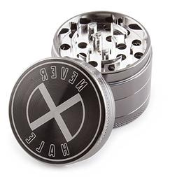 "NeverXhale Cruved Blade Tech 4 Piece 2.0"" Inch Tobacco Herb"