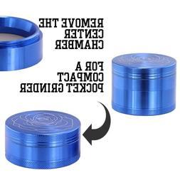 DCOU New design premium aluminum 2.2 inch herb grinder 4 cha
