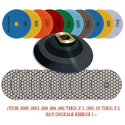 "CHANGE MOORE Dry Diamond Polishing Pads 4"" for Marble Granit"