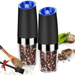 Electric Gravity Sensor Automatic Pepper Grinder Salt Mill B