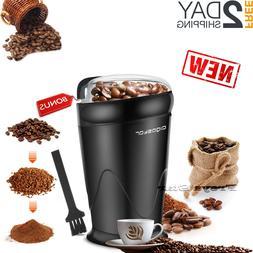 Electric Herb Coffee Grinder Stainless Steel Blades Spices N
