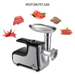 Electric Meat Grinder Kitchen Dining Food Sausage Mincer Sta