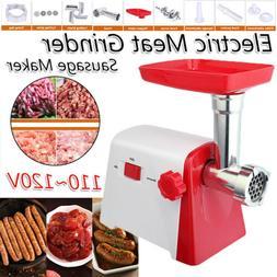 Electric Meat Grinder w/ Grinding Plates Sausage Filling Tub