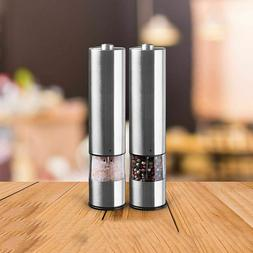 electric pepper grinder salt stainless steel automatic