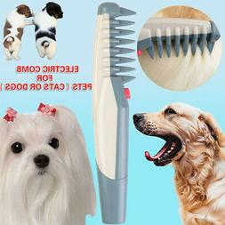 Electric Pet Dog Grooming Comb Cat Hair Trimmer Knot Out Rem