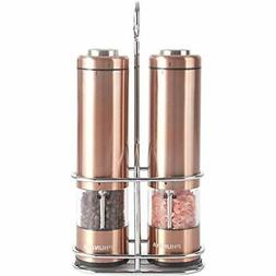 Phunaya Electric Salt and Pepper Grinder Set With Upgraded M