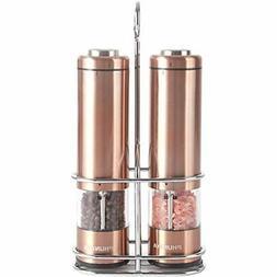 Phunaya Electric Salt and Pepper Grinder Set With Upgraded M