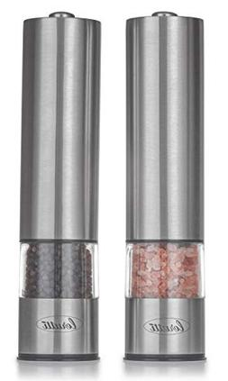 Electric Lerutti Salt and Pepper Grinder Set | Battery Opera