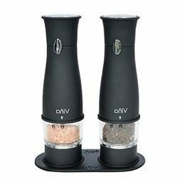 Vina Electronic Salt and Pepper Grinder Set, Battery Powered