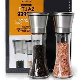 Elegant Salt And Pepper Grinder Set Of 2 - Premium Stainless