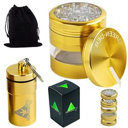 Fine Weed Grinder Set for Herb, Spice, and Tobacco: Large, 2