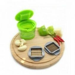 Garlic Press Chopper Slicer Hand Presser Grinder Crusher Hom