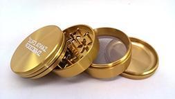 Santa Cruz Medium Gold 4 pc Grinder with a Cali Crusher Poll