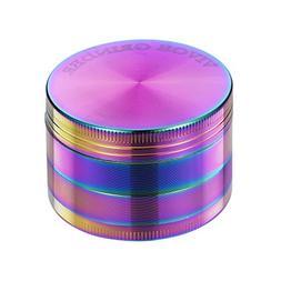 Grinder - 4 Pieces Zinc Alloy Pollen Rainbow Grinders Tobacc