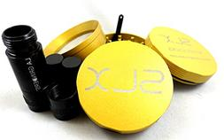 SLX Grinder 2.0 Version Non-Stick 4 Piece Yellow Gold - 2.4""