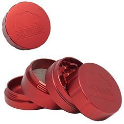 "Cali Crusher 2.0 - Standard 2.35"" 4pc Grinder - Red"