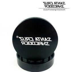 """SANTA CRUZ SHREDDER - MEDIUM 2 PIECE GRINDER BLACK 2.125"""""""