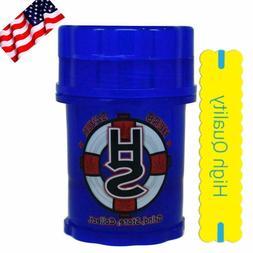 GRINDER herb saver  container medtainer  DARK BLUE *HIGH  QU