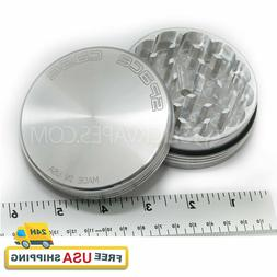 "Space Case Grinder - Large Magnetic 3.5"" 2 Piece Silver  *10"