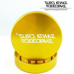 """SANTA CRUZ SHREDDER - MEDIUM 2 PIECE GRINDER GOLD 2.125"""""""