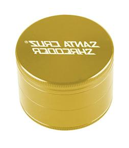 """SANTA CRUZ SHREDDER - LARGE 4 PIECE GRINDER GOLD 2.75"""""""