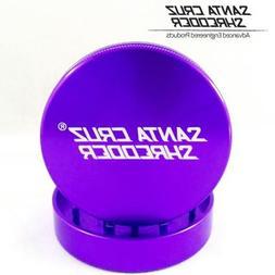 "SANTA CRUZ SHREDDER - LARGE 2 PIECE GRINDER PURPLE 2.75"""
