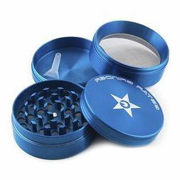 GStar 2.0 Inch 4 Pieces Aluminum Tobacco Spice Herb Grinder-