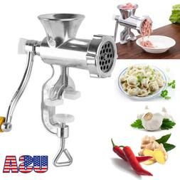 Hand Operated Manual Meat Grinder Sausage Beef Mincer Table