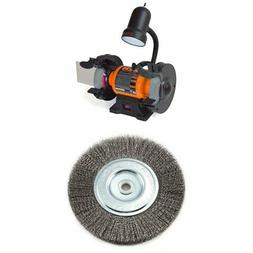 Heavy-Duty Bench Grinder 6-Inch with Wire Bench Wheel Brush