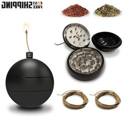 Toke Bomb Hemp Wick Dispenser 3 Piece Grinder Magnetic Herb