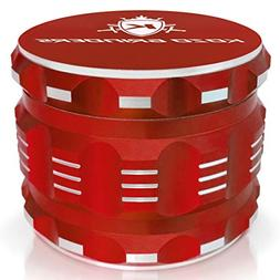"Best Herb Grinder By Kozo Grinders. Large 4 Piece, 2.5"" Red"