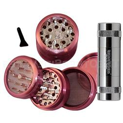 "2.5"" - Pink 4 Piece SharpStone® Herb Grinder + SUPER SHREDD"