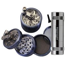 "2.5"" - Blue 4 Piece SharpStone® Herb Grinder with Reeling H"